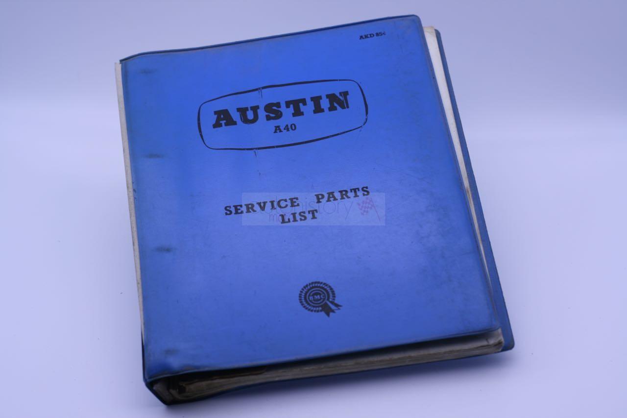 Austin A40 Service Parts List
