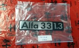 Alfa Romeo Alfa 33 1.3 Badge – NOS New Old Stock